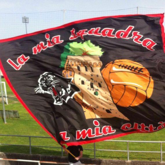 Bandiera LUCCHESE La Mia Squadra La Mia Città Fondo Nero