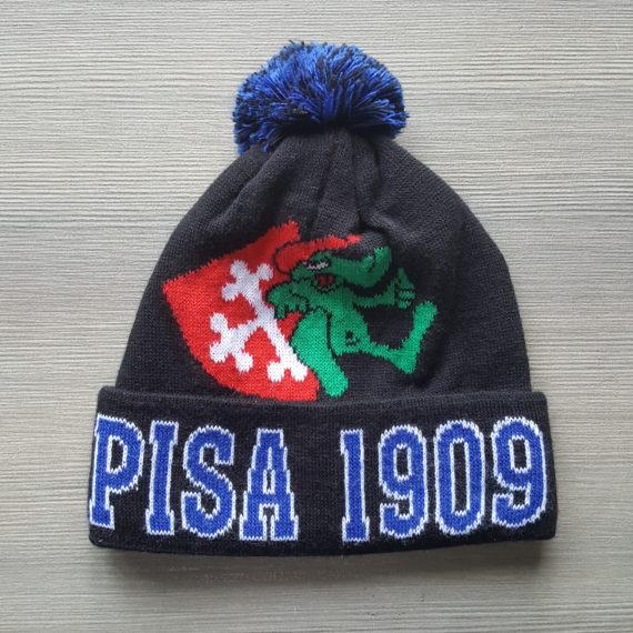 Cuffia Jacquard PISA Pontasserchio modello con Risvolto e Pompom