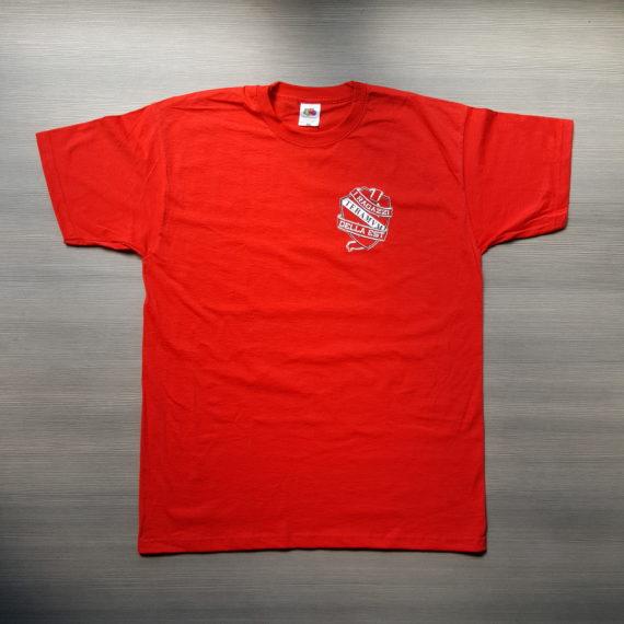 T-shirt Stampata TERAMO A sostegno del Diavolo T-shirt Commemorativa Davanti