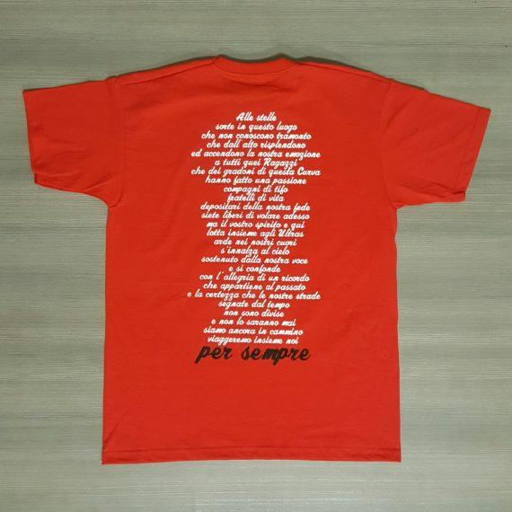 T-shirt Stampata TERAMO A sostegno del Diavolo T-shirt Commemorativa Dietro