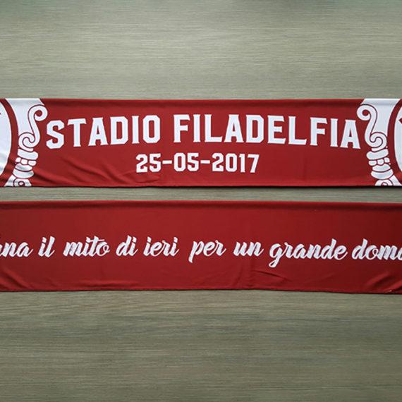 Sciarpa Raso TORINO Ultras Granata Sciarpa Commemorativa FILADELFIA