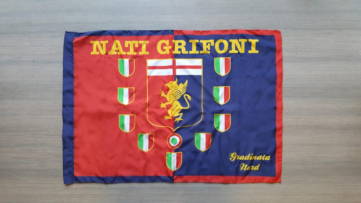 Bandiera GENOA Gradinata Nord Nati Grifoni