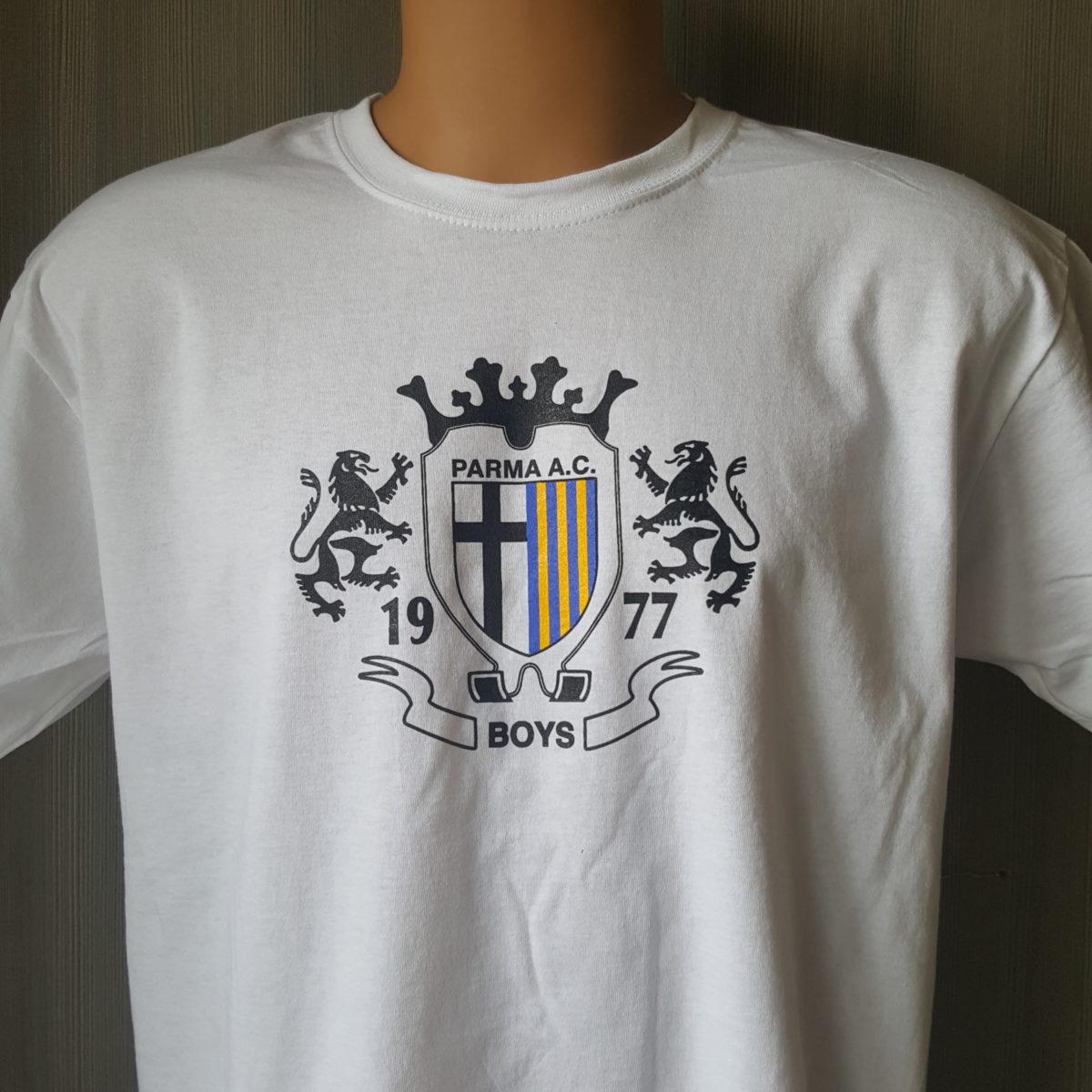 T-shirt Stampata PARMA Boys T-shirt Bianca 2017-18