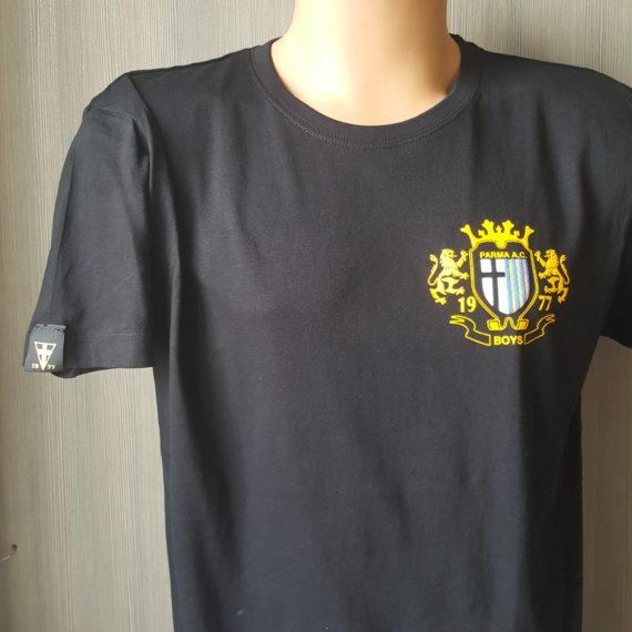 T-shirt Stampata PARMA Boys T-shirt Nera 2017-18
