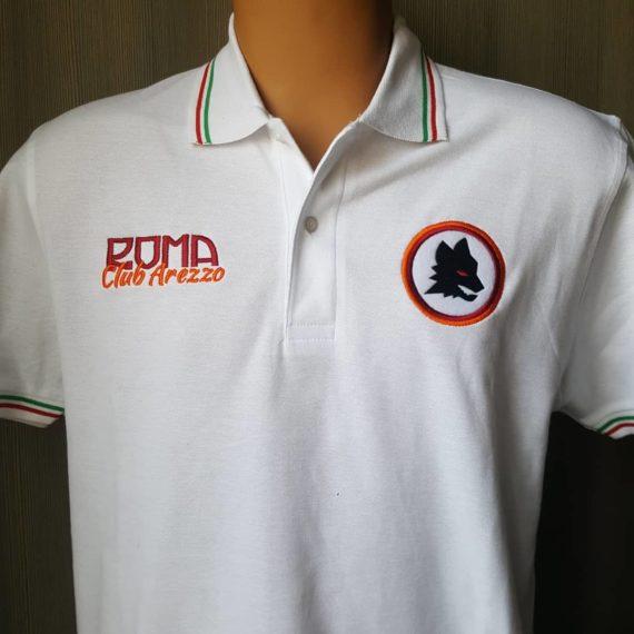 Polo Ricamata ROMA Club Arezzo Fronte